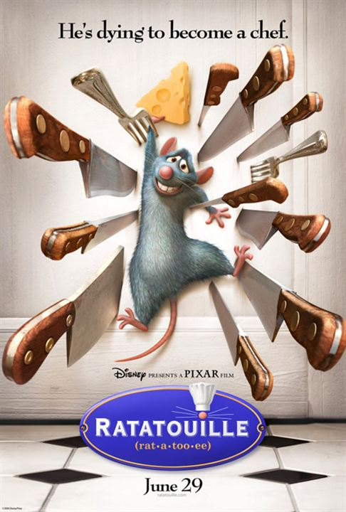 Ratatouille : Affiche Jan Pinkava