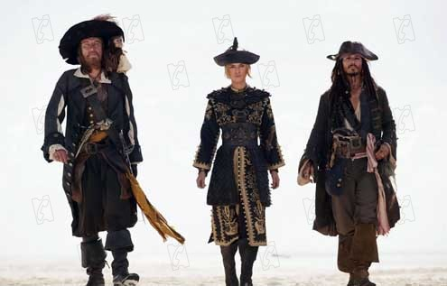 Pirates des Caraïbes : Jusqu'au Bout du Monde : Photo Geoffrey Rush, Johnny Depp, Keira Knightley