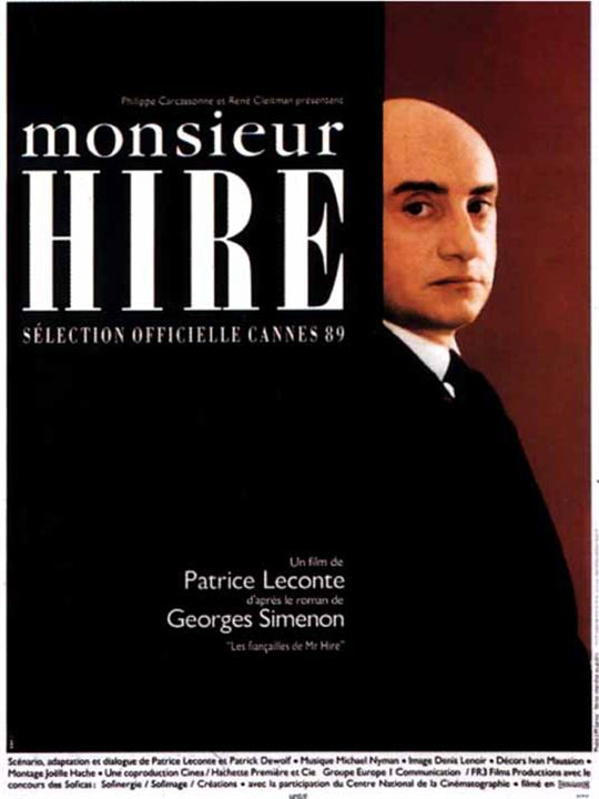 Monsieur Hire : affiche