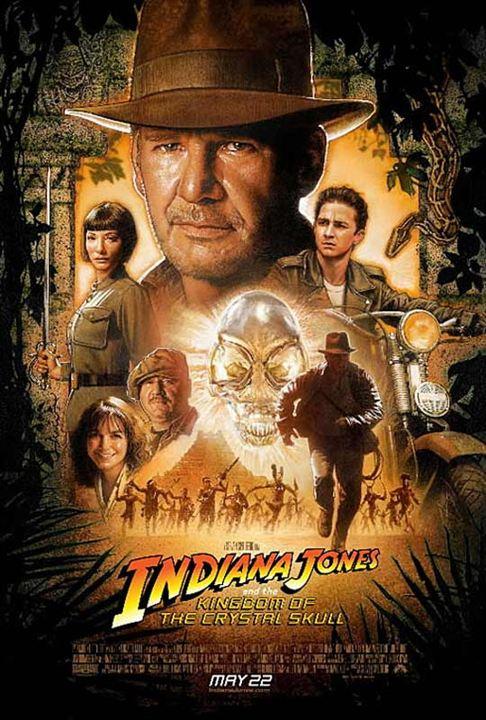 Indiana Jones et le Royaume du Crâne de Cristal : Affiche