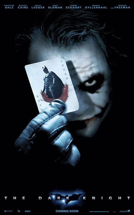 The Dark Knight, Le Chevalier Noir : Affiche Heath Ledger