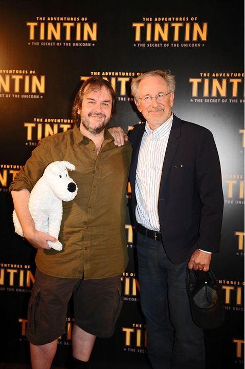 Les Aventures de Tintin : Le Secret de la Licorne : Photo promotionnelle Peter Jackson, Steven Spielberg