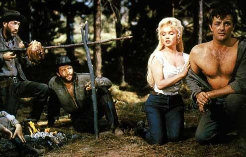 Rivière sans retour : Photo Marilyn Monroe, Otto Preminger, Robert Mitchum