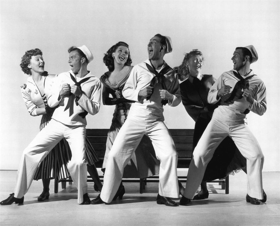 Un Jour à New York : Photo Ann Miller, Betty Garrett, Frank Sinatra, Gene Kelly, Jules Munshin