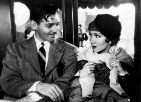 New York-Miami : Photo Clark Gable, Claudette Colbert, Frank Capra