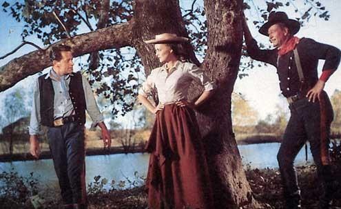 Les Cavaliers : Photo John Ford, John Wayne
