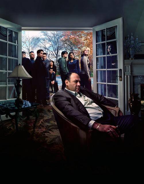 Les Soprano : Photo Aida Turturro, Dominic Chianese, Edie Falco, James Gandolfini, Jamie-Lynn Sigler