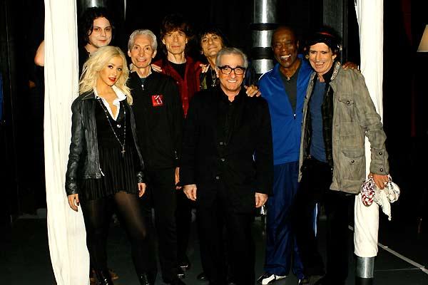 Shine a Light : Photo Charlie Watts, Christina Aguilera, Keith Richards, Martin Scorsese, Mick Jagger