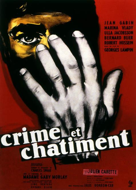 Crime et Chatiment : Affiche Georges Lampin