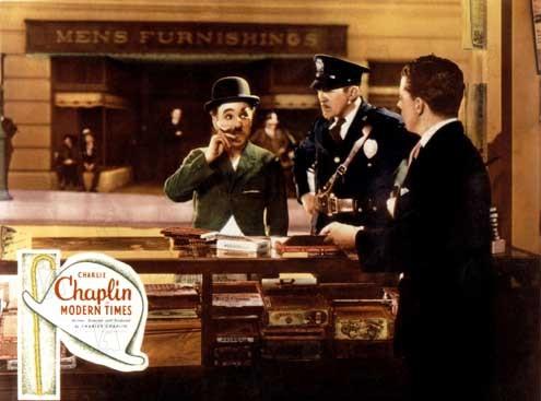 Les Temps modernes : Photo Charles Chaplin