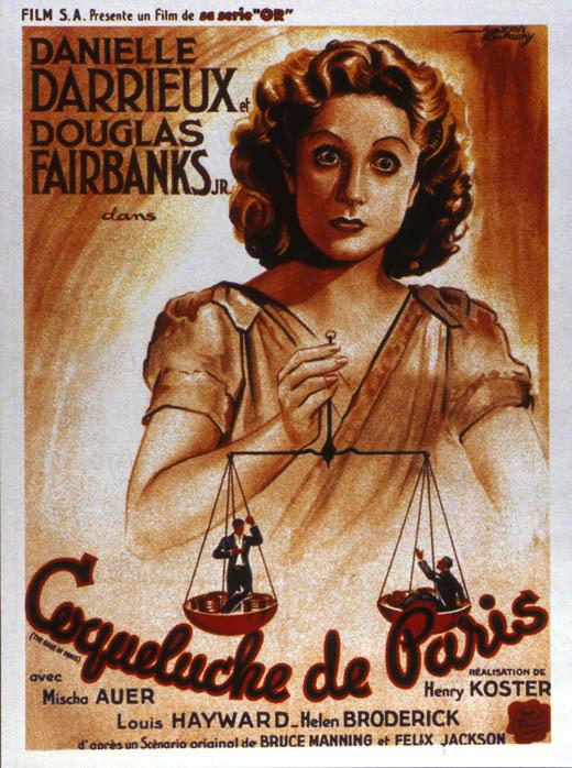 La Coqueluche de Paris : Affiche Henry Koster