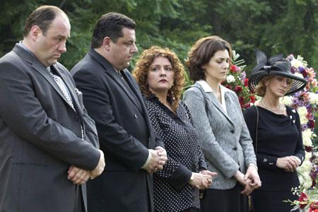 Les Soprano : Photo Aida Turturro, James Gandolfini, Steve Schirripa