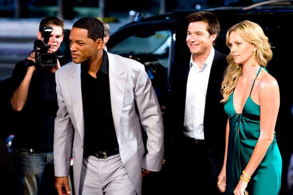 Hancock : Photo Charlize Theron, Jason Bateman, Peter Berg, Will Smith