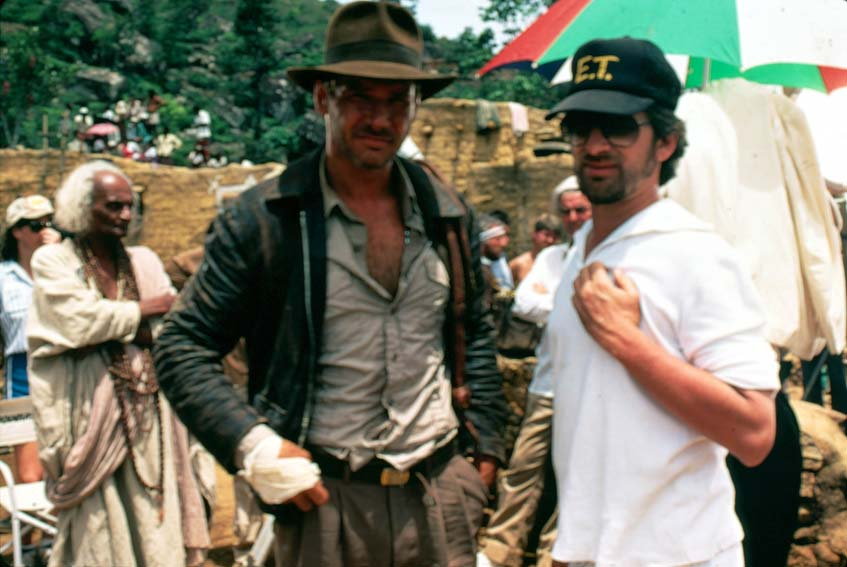 Indiana Jones et le Temple maudit : Photo Harrison Ford, Steven Spielberg