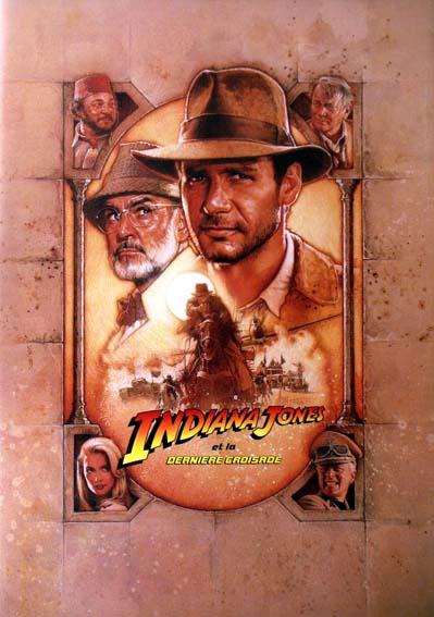 Indiana Jones et la Dernière Croisade : affiche Harrison Ford, Steven Spielberg