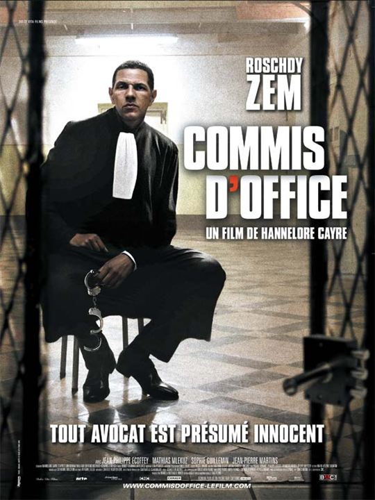 Commis d'office : affiche Hannelore Cayre, Roschdy Zem