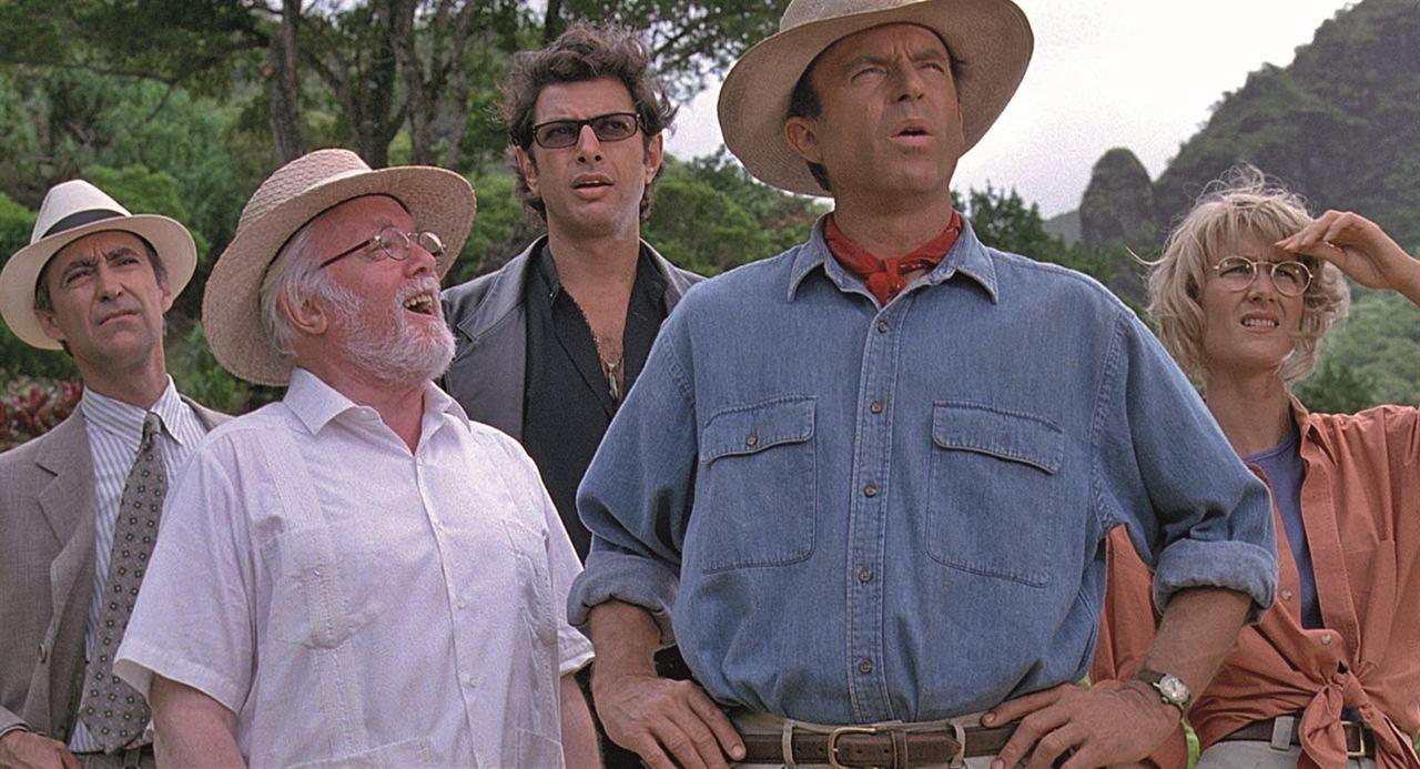 Jurassic Park : Photo Jeff Goldblum, Laura Dern, Martin Ferrero, Richard Attenborough, Sam Neill