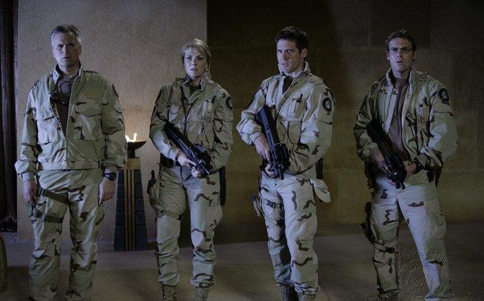 Stargate SG-1 : Photo Amanda Tapping, Ben Browder, Michael Shanks (I), Richard Dean Anderson