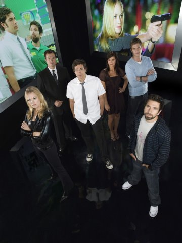 Chuck : Photo Adam Baldwin, Joshua Gomez, Ryan McPartlin, Sarah Lancaster, Yvonne Strahovski
