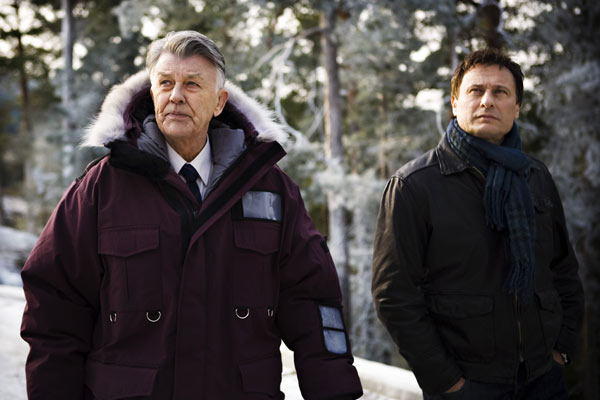 Millénium, le film : Photo Michael Nyqvist, Niels Arden Oplev, Sven-Bertil Taube
