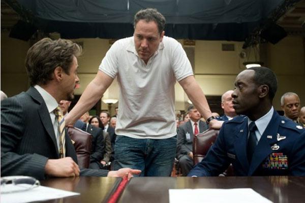 Iron Man 2 : Photo Don Cheadle, Jon Favreau, Robert Downey Jr.