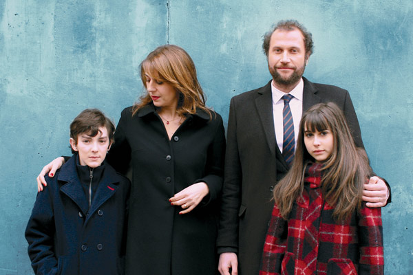 La Famille Wolberg : Photo Axelle Ropert, François Damiens, Leopoldine Serre, Valentin Vigourt, Valérie Benguigui