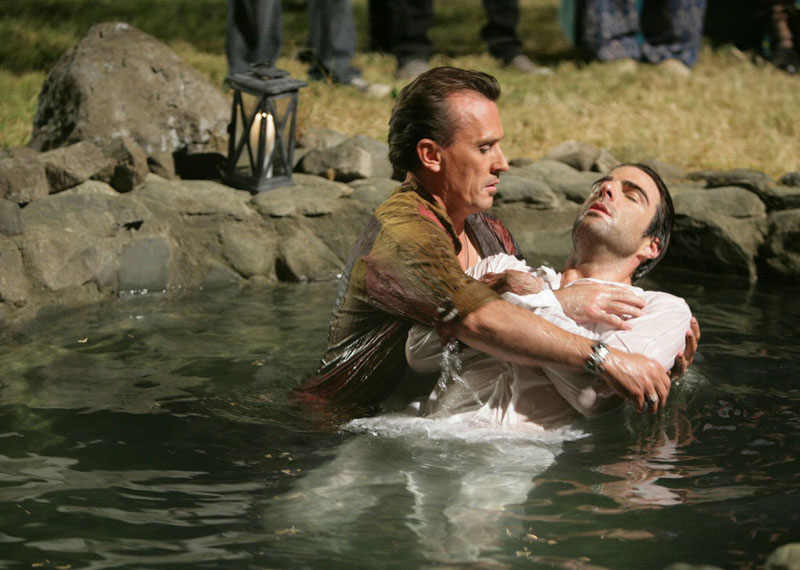 Heroes : Photo Robert Knepper, Zachary Quinto