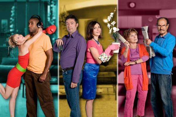 Scènes de ménages : Photo Audrey Lamy, Frederic Bouraly, Gérard Hernandez, Loup-Denis Elion, Marion Game