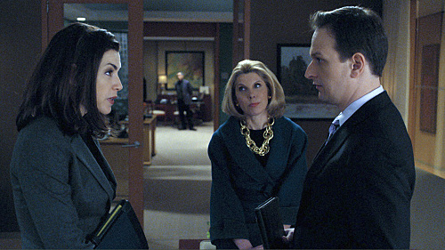 Photo Christine Baranski, Josh Charles, Julianna Margulies