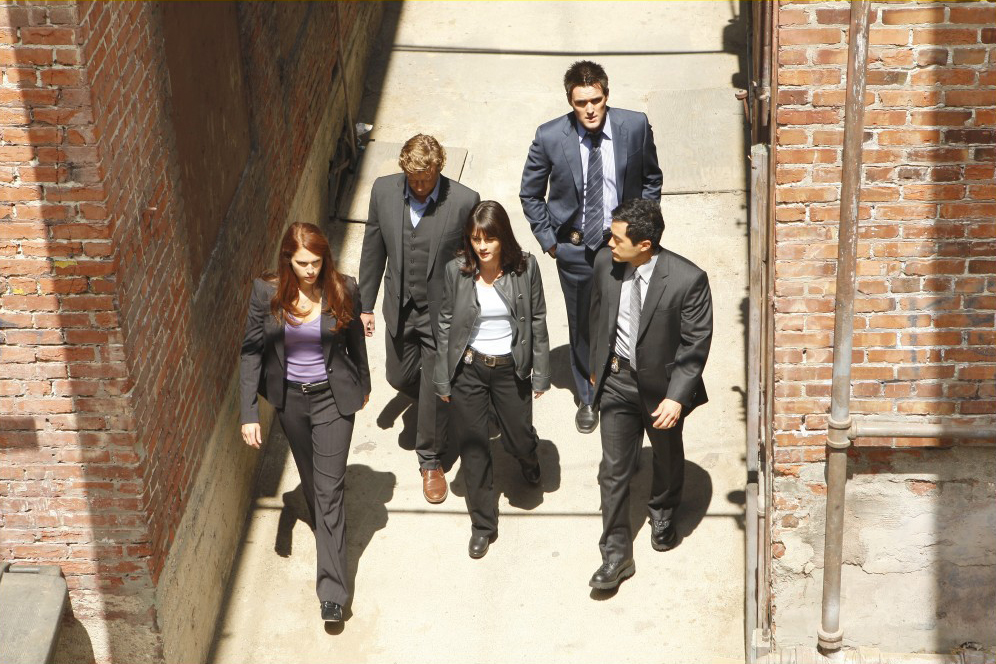 Mentalist : Photo Amanda Righetti, Owain Yeoman, Robin Tunney, Simon Baker, Tim Kang