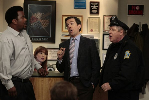 Photo Craig Robinson, Ed Helms, Ellie Kemper, Michael Henderson