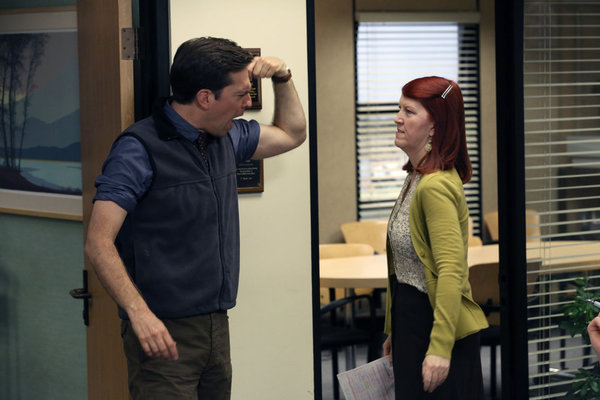Photo Ed Helms, Kate Flannery