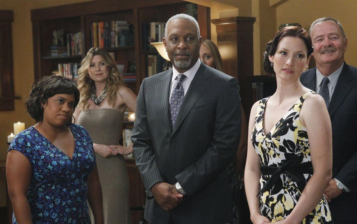 Grey's Anatomy : Photo Chandra Wilson, Chyler Leigh, Ellen Pompeo, James Pickens Jr.