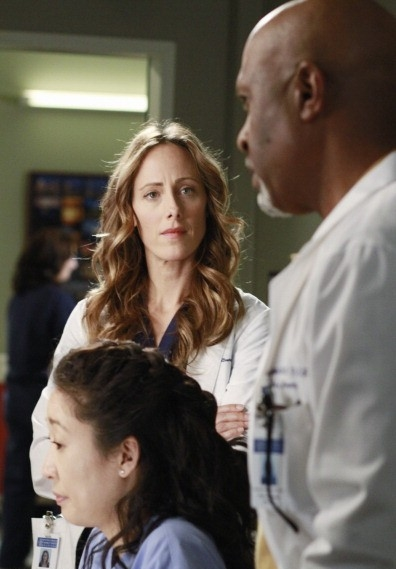 Photo James Pickens Jr., Kim Raver, Sandra Oh