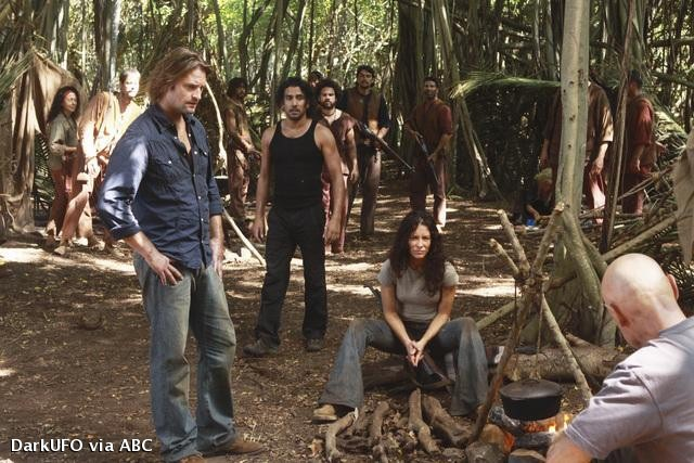 Lost, les disparus : Photo Evangeline Lilly, Josh Holloway, Naveen Andrews, Terry O'Quinn