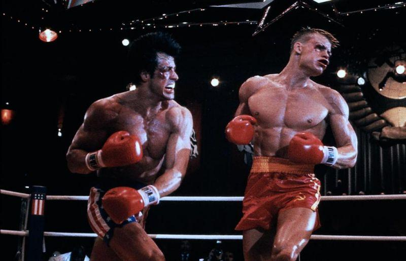 Rocky IV : Photo Dolph Lundgren, Sylvester Stallone