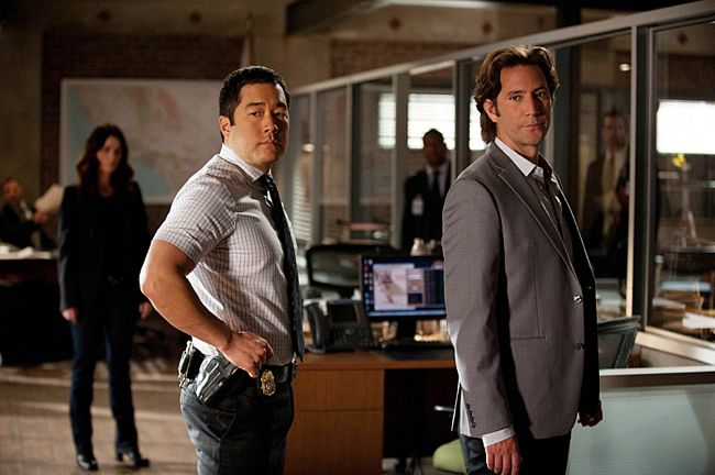 Photo Henry Ian Cusick, Robin Tunney, Tim Kang