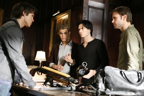 Vampire Diaries : Photo Ian Somerhalder, Matthew Davis, Paul Wesley, Steven R. Mcqueen