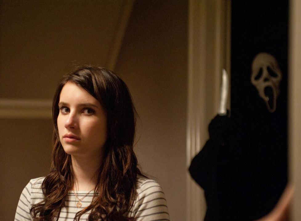 Scream 4 : Photo Emma Roberts, Wes Craven