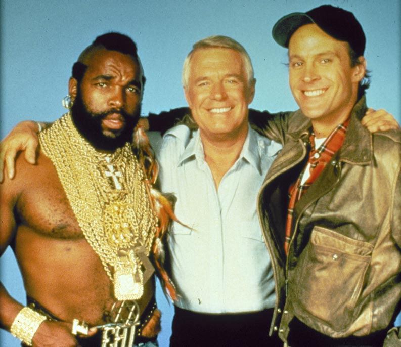 L'Agence tous risques : Photo Dwight Schultz, George Peppard, Mr. T