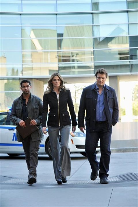 Photo Jon Huertas, Nathan Fillion, Stana Katic
