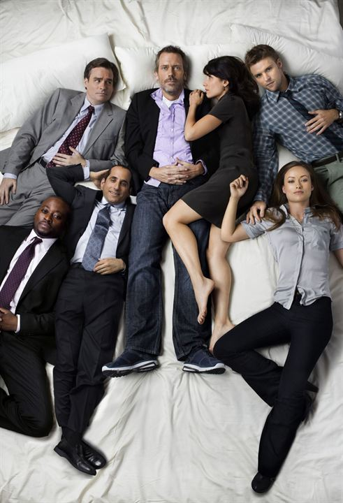 Dr House : Photo Hugh Laurie, Jesse Spencer, Lisa Edelstein, Olivia Wilde, Omar Epps