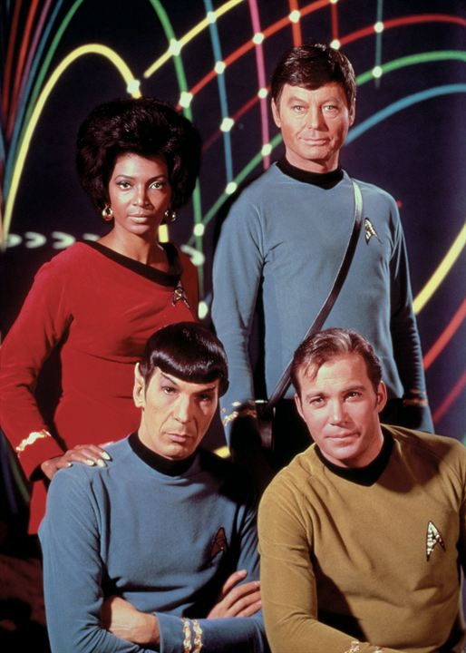 Star Trek : Photo DeForest Kelley, Leonard Nimoy, Nichelle Nichols, William Shatner