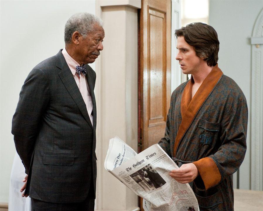 The Dark Knight Rises : Photo Christian Bale, Morgan Freeman