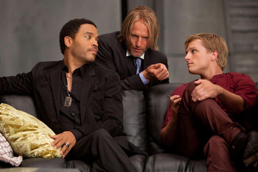 Hunger Games : Photo Josh Hutcherson, Lenny Kravitz, Woody Harrelson