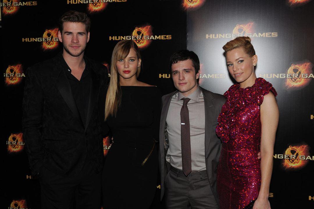 Hunger Games : Photo Elizabeth Banks, Jennifer Lawrence, Josh Hutcherson, Liam Hemsworth