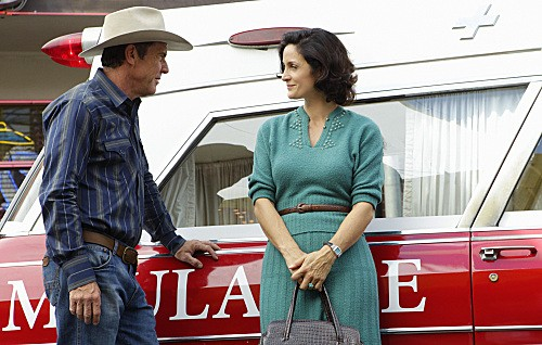 Photo Carrie-Anne Moss, Dennis Quaid