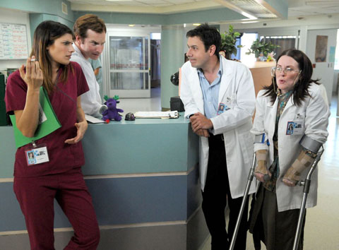 Childrens Hospital : Photo John Ross Bowie, Lake Bell, Megan Mullally, Rob Huebel
