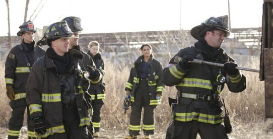 Photo Charlie Barnett, David Eigenberg, Jesse Spencer, Lauren German, Monica Raymund