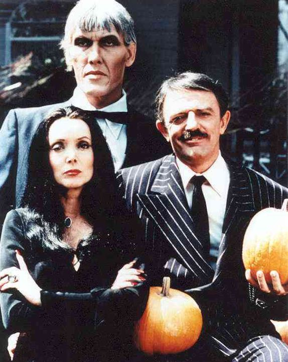 La Famille Addams : Photo Carolyn Jones, John Astin, Ted Cassidy